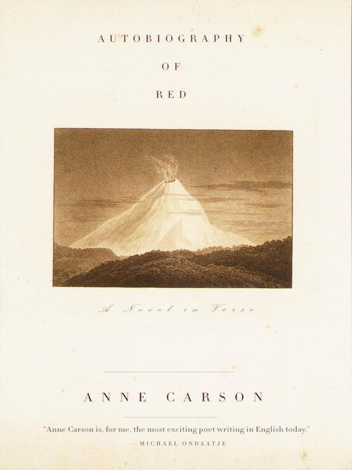 Title details for Autobiography of Red by Anne Carson - Wait list