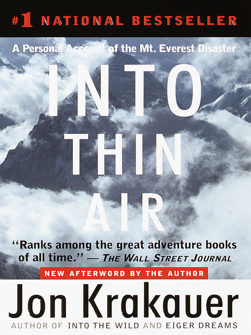 Title details for Into Thin Air by Jon Krakauer - Wait list