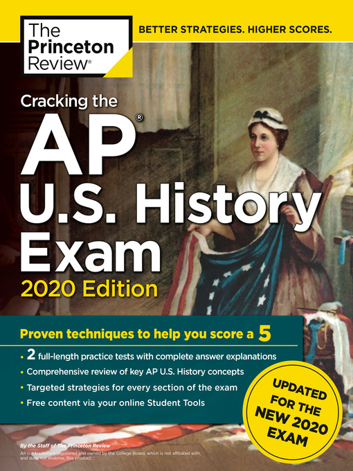 Title details for Cracking the AP U.S. History Exam, 2020 Edition by The Princeton Review - Wait list