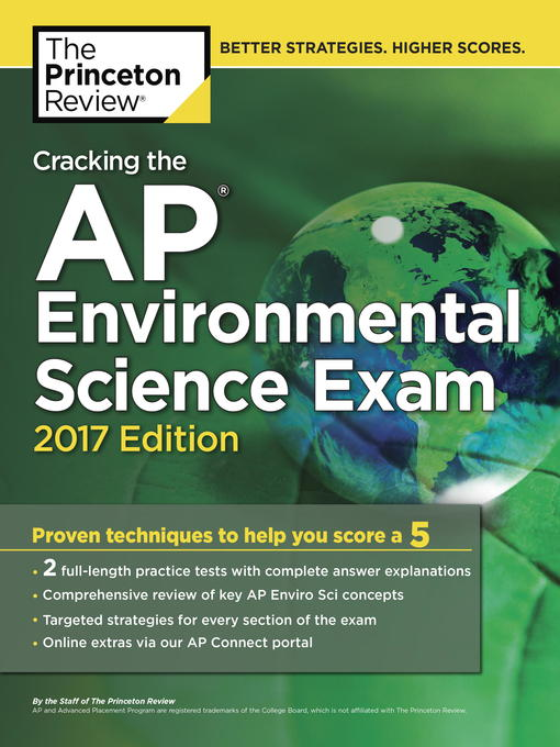 Title details for Cracking the AP Environmental Science Exam, 2017 Edition by Princeton Review - Available