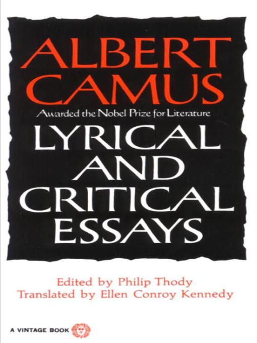 Cover of Lyrical and Critical Essays
