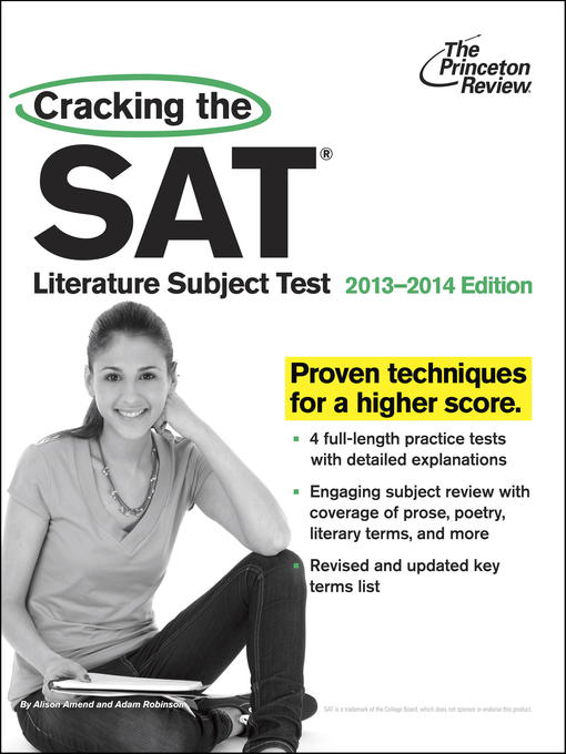 Title details for Cracking the SAT Literature Subject Test, 2013-2014 Edition by Princeton Review - Available