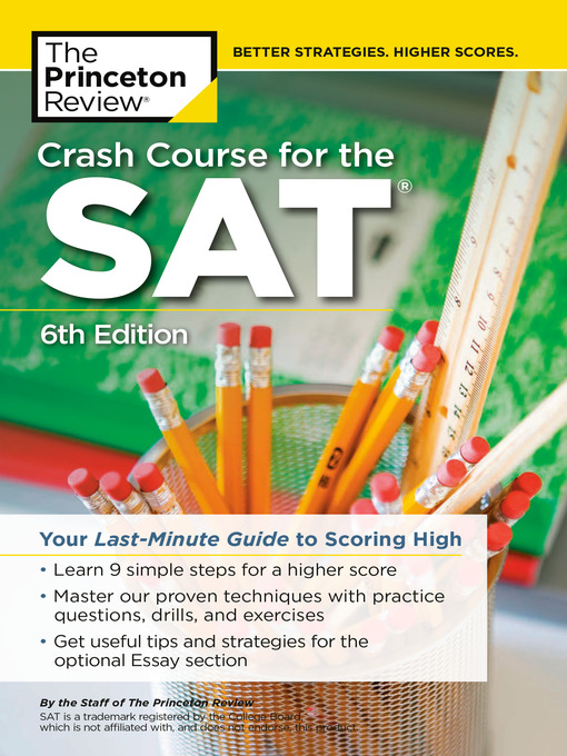 Title details for Crash Course for the SAT by The Princeton Review - Wait list