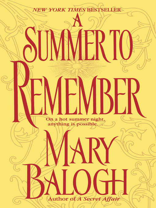 Title details for A Summer to Remember by Mary Balogh - Wait list