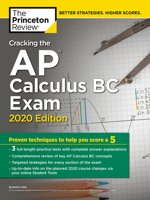 Title details for Cracking the AP Calculus BC Exam, 2020 Edition by The Princeton Review - Wait list