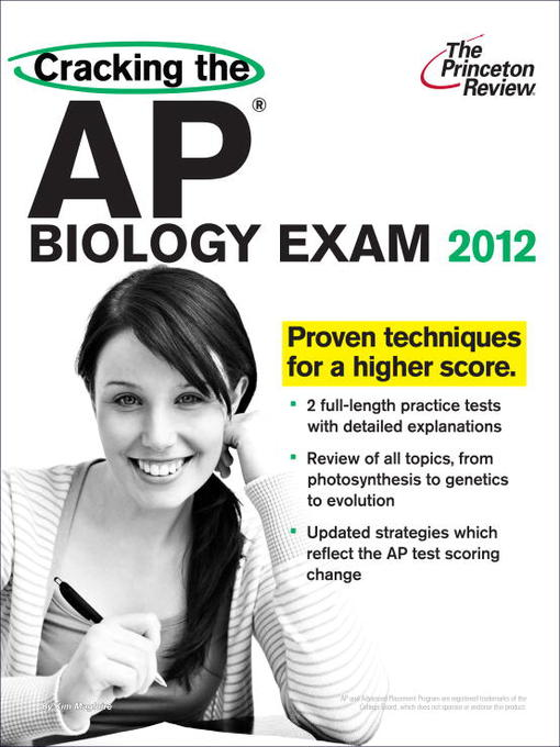 Title details for Cracking the AP Biology Exam, 2012 Edition by Princeton Review - Available