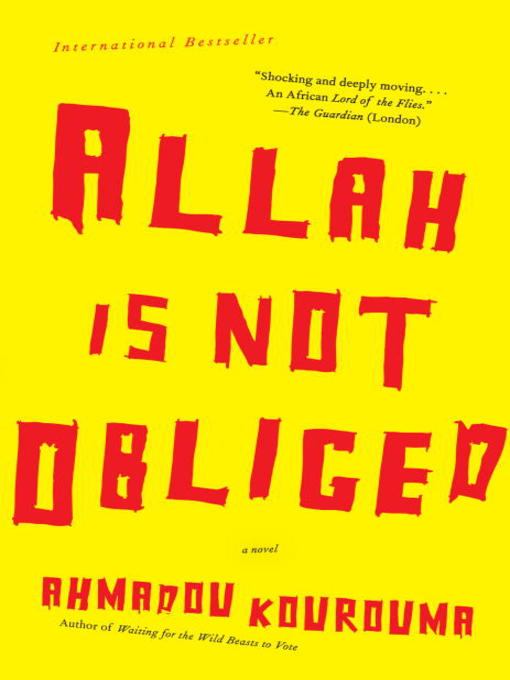 Cover of Allah is Not Obliged