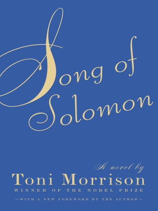 literary analaysis of the song of solomon by toni morrison We provide excellent essay writing service 24/7 enjoy literary analaysis of the song of solomon by toni morrison proficient essay writing and custom writing services provided by professional academic writers.