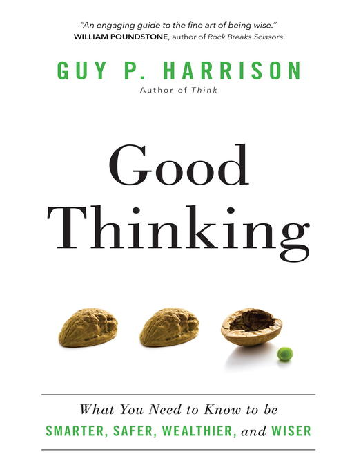 Title details for Good Thinking by Guy P. Harrison - Available