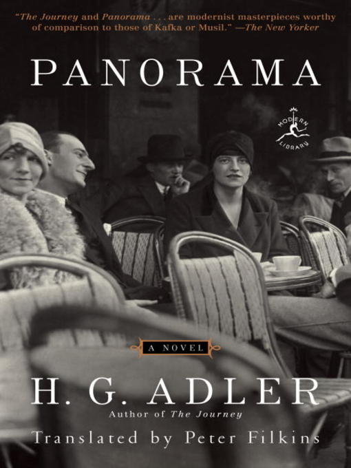 Title details for Panorama by H. G. Adler - Available