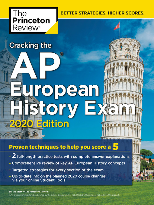 Title details for Cracking the AP European History Exam, 2020 Edition by The Princeton Review - Wait list