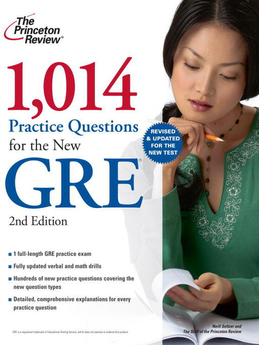 Cover of 1,014 Practice Questions for the New GRE
