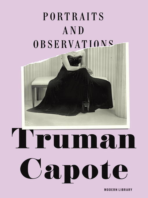 Title details for Portraits and Observations by Truman Capote - Wait list