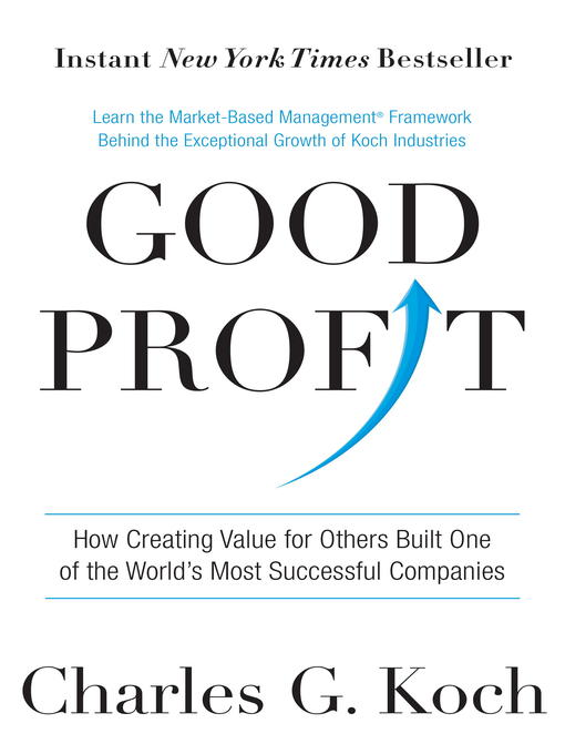 Title details for Good Profit by Charles G. Koch - Wait list