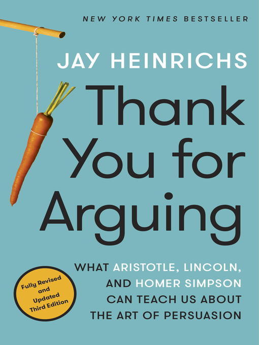 chapter review for thank you for arguing Whether you're an inveterate lover of language books or just want to win a lot more anger-free arguments on the page, at the podium, or over a beer, thank you for arguing is for you written by one of today's most popular online language mavens, it's warm, witty, erudite, and truly enlightening.