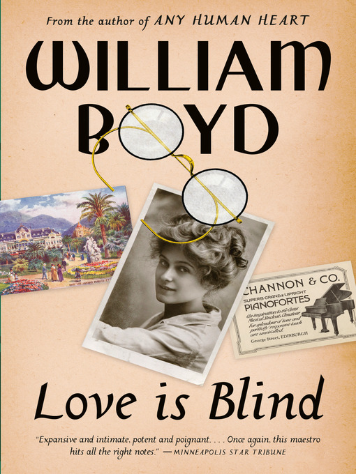 Title details for Love Is Blind by William Boyd - Available