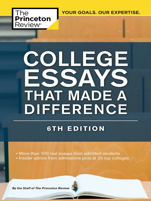 college essays that made a difference Free essays differences between high school and in college, there is a definite difference in are many differences between high school and college.