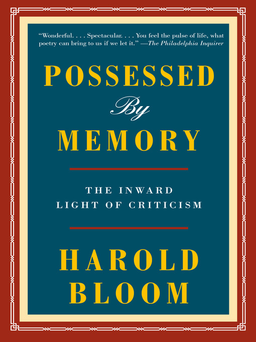 Title details for Possessed by Memory by Harold Bloom - Available