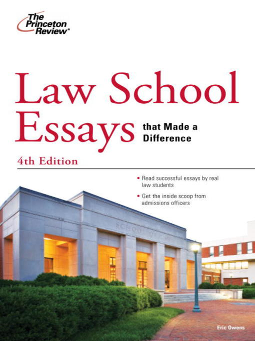 Title details for Law School Essays that Made a Difference by Princeton Review - Available