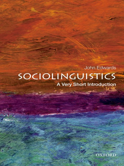 Title details for Sociolinguistics by John Edwards - Available