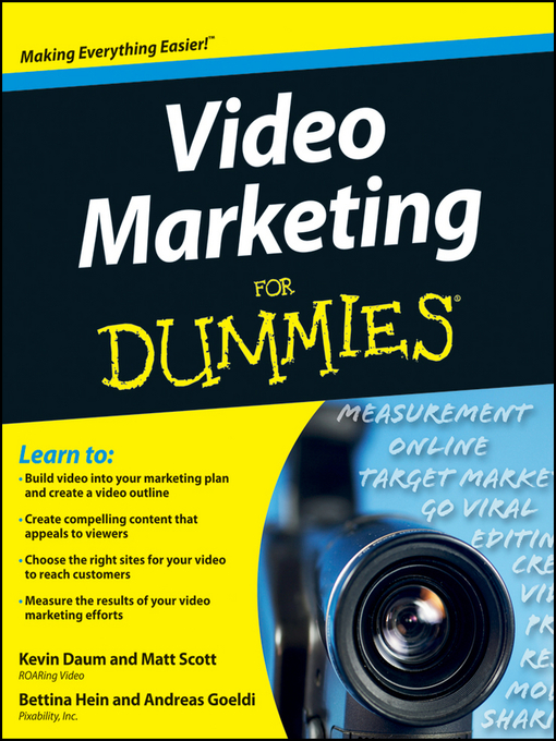 Title details for Video Marketing For Dummies by Kevin Daum - Available