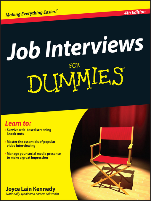 Title details for Job Interviews For Dummies by Joyce Lain Kennedy - Available