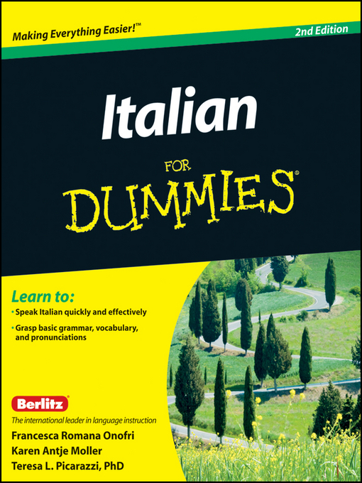 Title details for Italian For Dummies by Francesca Romana Onofri - Available