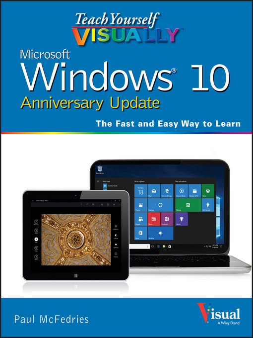 Cover of Teach Yourself VISUALLY Windows 10 Anniversary Update
