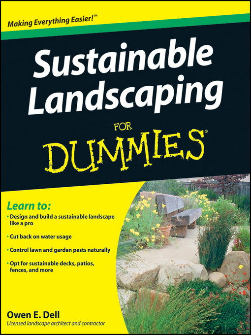 Cover of Sustainable Landscaping For Dummies®