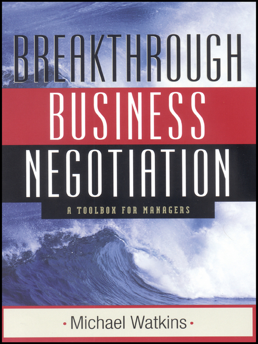 Cover of Breakthrough Business Negotiation