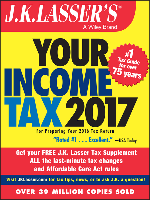 Cover of J.K. Lasser's Your Income Tax 2017