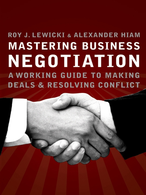 negotiation by lewicki Essentials of negotiation by roy lewicki in chm, fb2, fb3 download e-book.