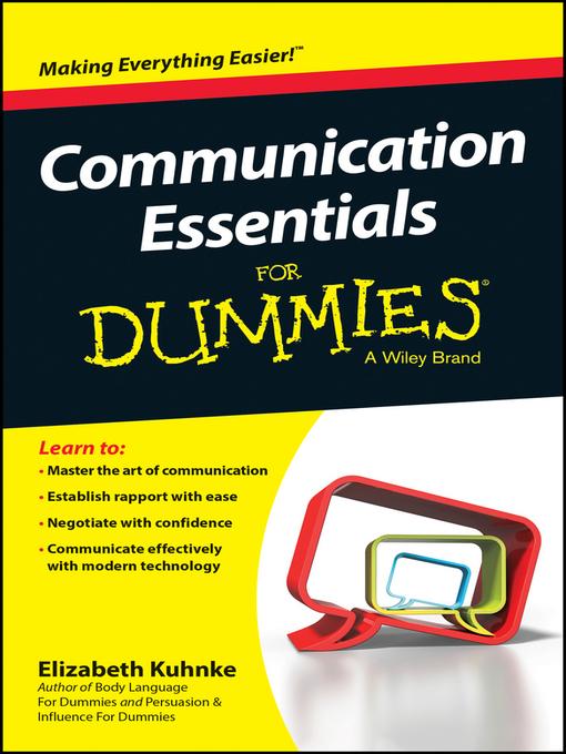 Title details for Communication Essentials For Dummies by Elizabeth Kuhnke - Wait list