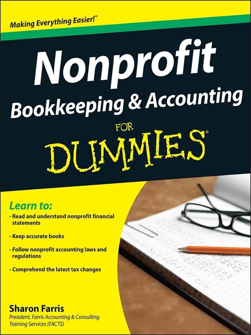 Nonprofit Bookkeeping Accounting For Dummies Foundation Center