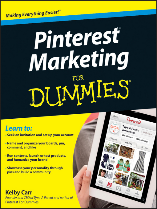 Title details for Pinterest Marketing For Dummies by Kelby Carr - Available