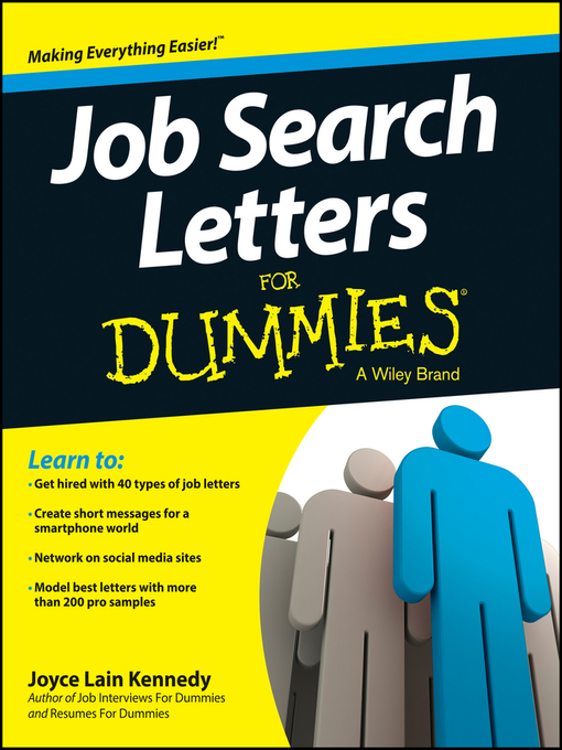 Title details for Job Search Letters For Dummies by Joyce Lain Kennedy - Available