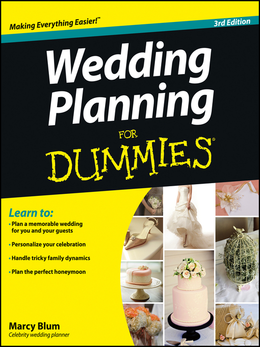 Title details for Wedding Planning For Dummies by Marcy Blum - Available
