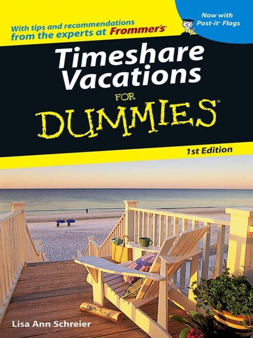 Cover of Timeshare Vacations For Dummies