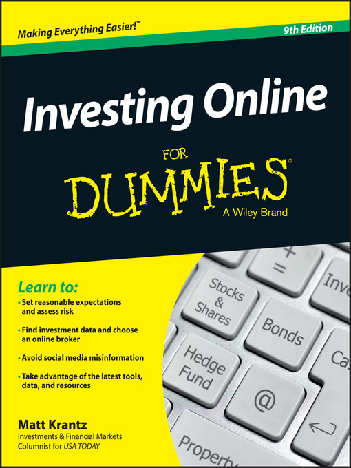 Title details for Investing Online For Dummies by Matthew Krantz - Available
