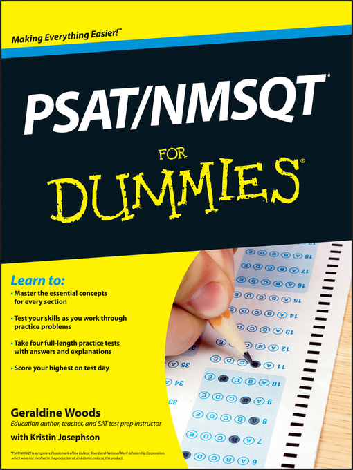 Title details for PSAT/NMSQT For Dummies by Geraldine Woods - Available