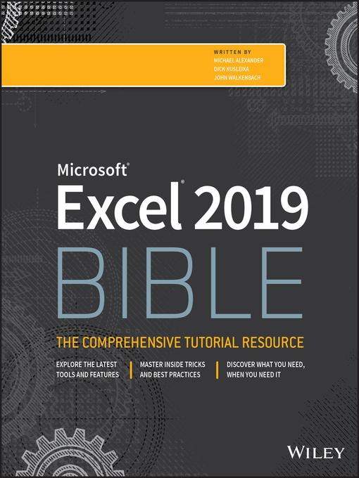 Title details for Excel 2019 Bible by Michael Alexander - Wait list