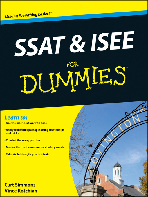 Title details for SSAT and ISEE For Dummies by Vince Kotchian - Available