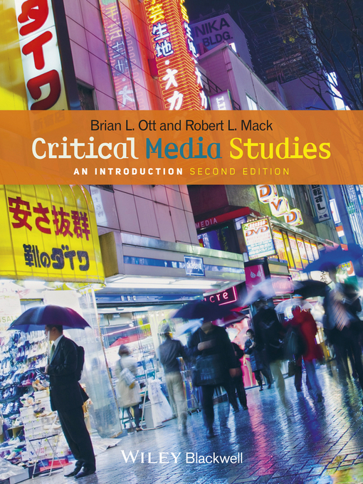 Cover of Critical Media Studies