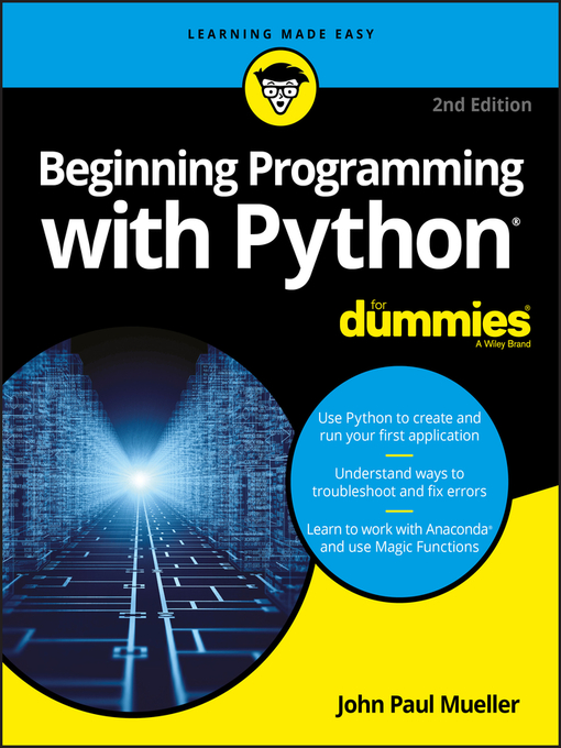Title details for Beginning Programming with Python For Dummies by John Paul Mueller - Wait list