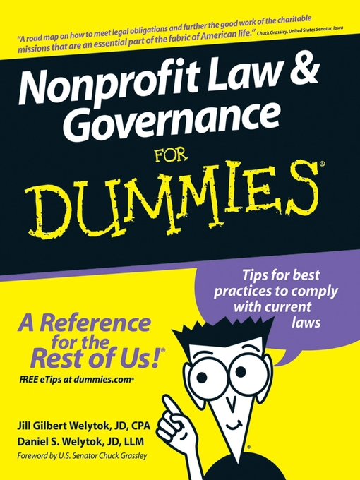 Title details for Nonprofit Law & Governance For Dummies by Jill Gilbert Welytok - Available