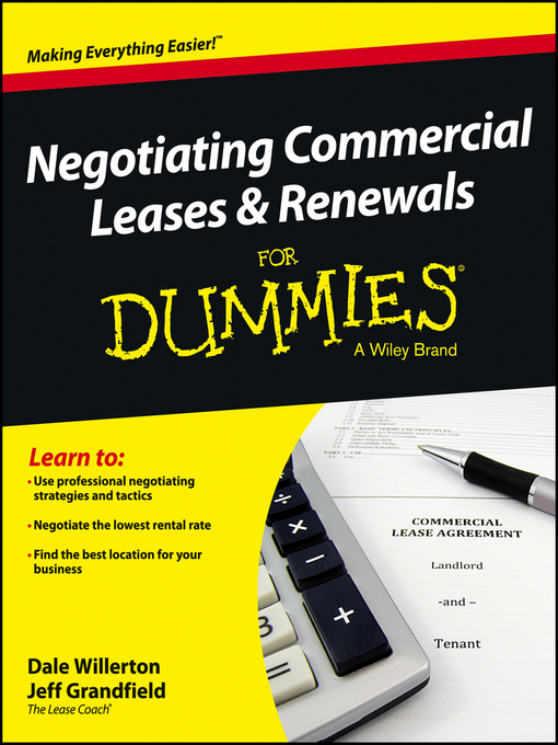 Title details for Negotiating Commercial Leases & Renewals For Dummies by Dale Willerton - Available