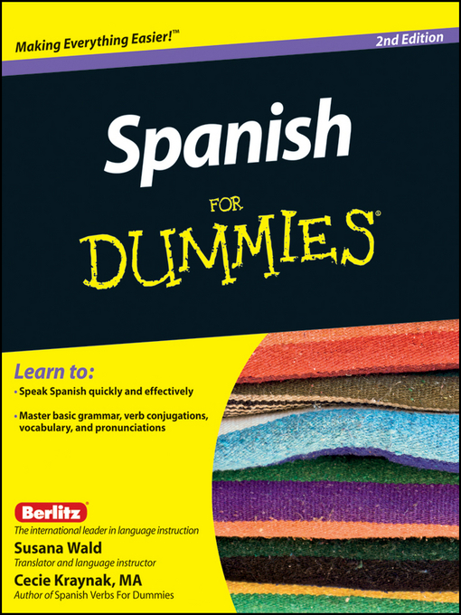 Title details for Spanish For Dummies by Susana Wald - Available