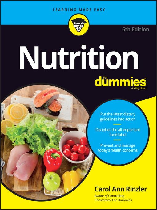 Title details for Nutrition for Dummies by Carol Ann Rinzler - Wait list