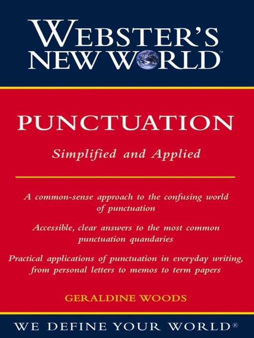 Title details for Webster's New World Punctuation by Geraldine Woods - Available