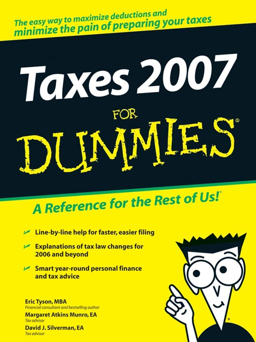Title details for Taxes 2007 For Dummies by Eric Tyson - Available